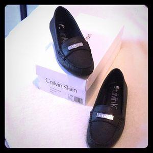 Black Calvin Klein Flats